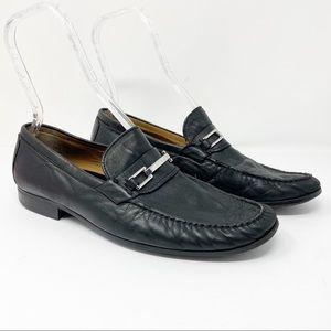 Johnston & Murphy Sheepskin Leather Loafers Black